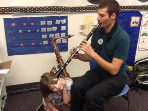 Matt Shugert introduced the clarinet and saxophone this week!