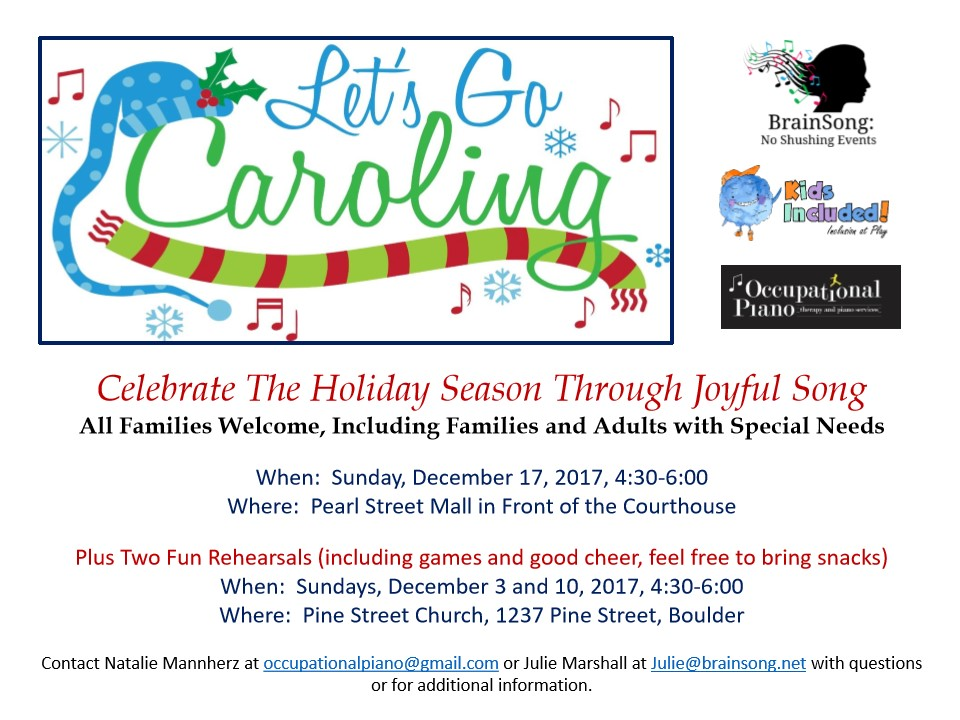 COME CAROLING WITH US!