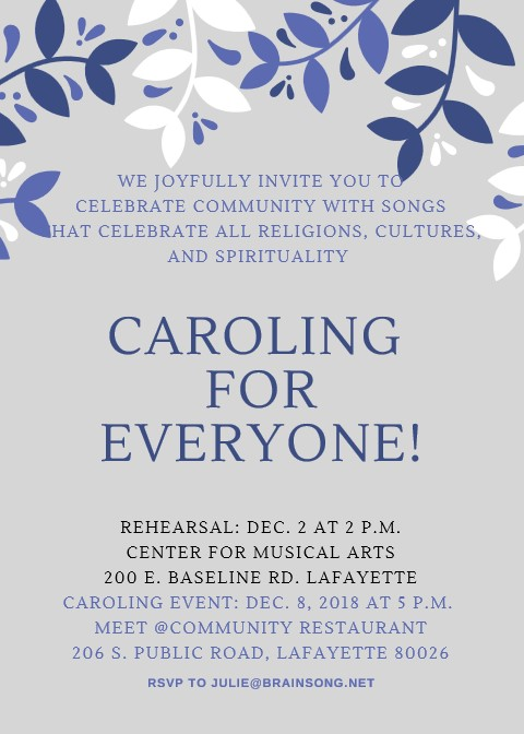 Caroling for Community!